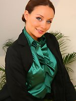 Gorgeous brunette Carla shows off the stunning body beneath her office clothes